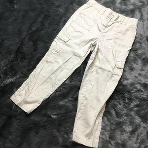 Chico's Tan Linen Blend Crop Pants SZ 1.5